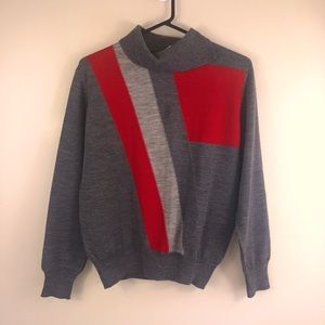 Vintage Slade grey and red knit